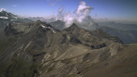 TIme-lapse of clouds and Swiss Alps Footage