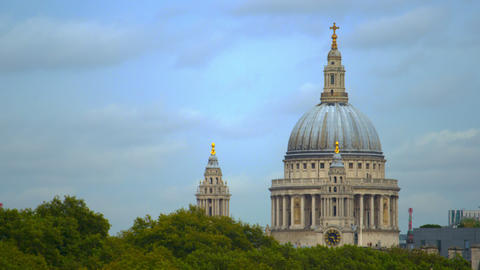St. Paul's Cathedral and treetops Live Action
