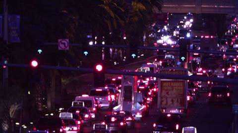 Traffic on Las Vegas road Footage