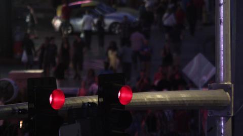 Street light and pedestrians on a Las Vegas street Footage