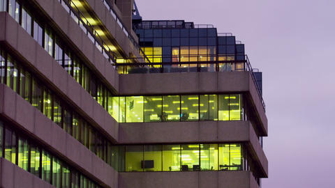 Office building by Thames Footage
