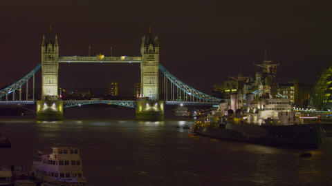 Tower Bridge evening timelapse Footage