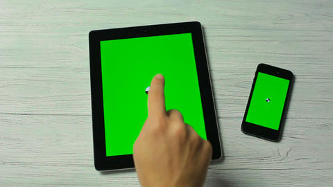 Touch Moves on Tablet Pc and Smartphone Live Action