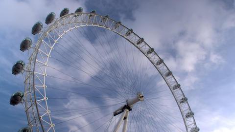 The London Eye in London, England Footage