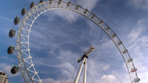 Low angle of London eye in London, England Footage