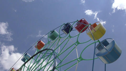 Ferris wheel in the summer Park Footage