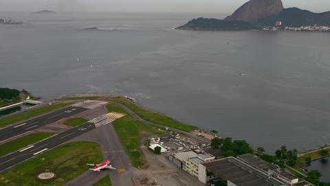 Aerial airport footage - Rio de Janeiro, Brazil Live Action