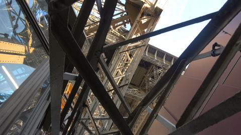 Bottom View of the Eiffel Tower 3 GIF