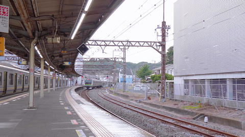Kamakura Station in Japan - a famous city - TOKYO, JAPAN - JUNE 12, 2018 Live Action