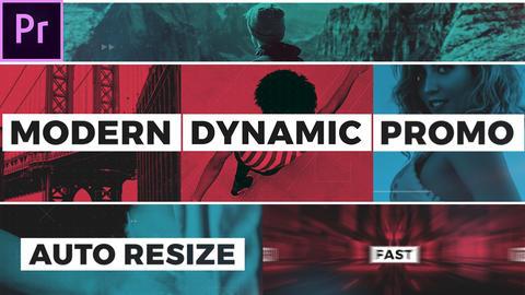 Modern Dynamic Opener Premiere Proテンプレート