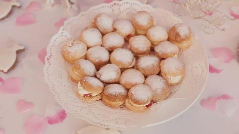 cake.Candy Bar Wedding, candy buffet Stock Video Footage