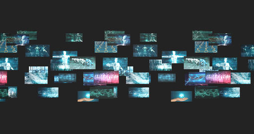 Internet Abstract Background with Futuristic Technology Concept Live Action