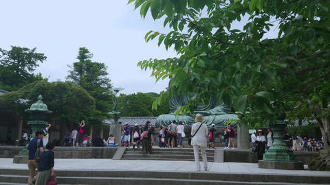 Most famous landmark in Kamakura - The Great Buddha Daibutsu - TOKYO, JAPAN - Footage