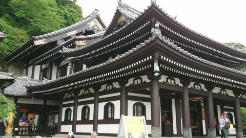 Famous Hase Dera Temple in Kamakura Japan - TOKYO, JAPAN - JUNE 12, 2018 Live Action