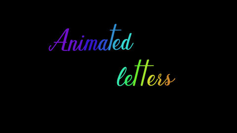 Alphabet Motion Letters モーショングラフィックステンプレート