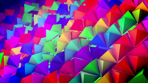 Steep slope surface with rows of pyramids Animation