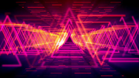 Abstract neon shapes moving fast Animation