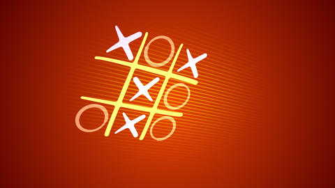 Funny and victorious tic-tac toe game Animation