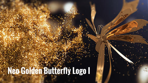 Neo Golden Butterfly Logo I After Effects Template