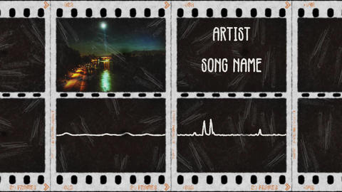 Photo film music visualizer After Effects Template