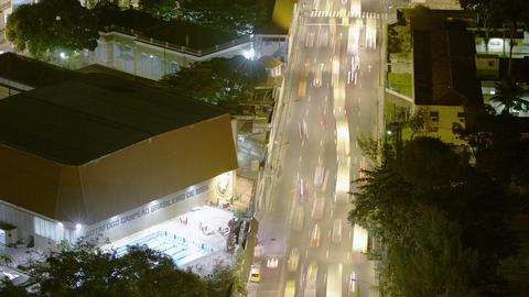 Time lapse from up high over a busy freeway in Rio de Janeiro, Brazil Footage