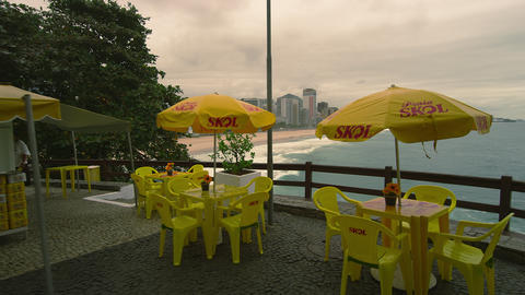 RIO DE JANEIRO, BRAZIL - JUNE 23: Slow dolly shot of restaurant on June 23, 2013 Footage