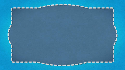 Frame Dashes Border Paper Texture Animated Blue Background Animation