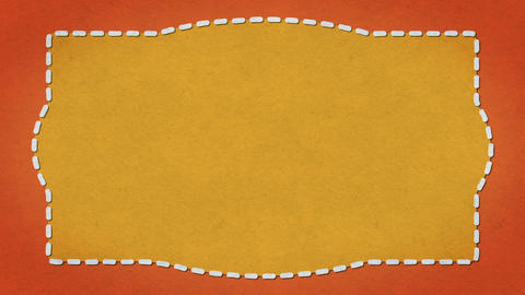Frame Dashes Border Paper Texture Animated Orange Background Animation