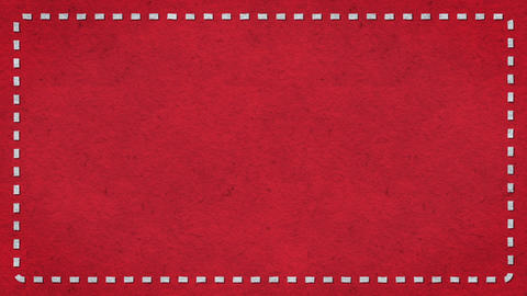 Frame Dashes Border Paper Texture Animated Red Background Stock Video Footage