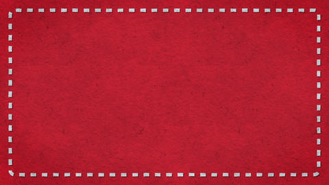 Frame Dashes Border Paper Texture Animated Red Background Animation