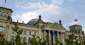 4K, Reichstag Building, Side View, Berlin Footage