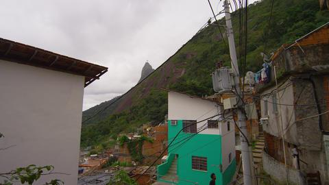 Shot of favela within Rio de Janeiro, Brazil Footage