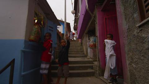 RIO DE JANEIRO, BRAZIL - JUNE 23: Slow dolly shot of favela houses on June 23, 2 Footage