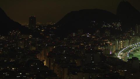 Pan of Rio de Janeiro cityscape in Brazil Footage