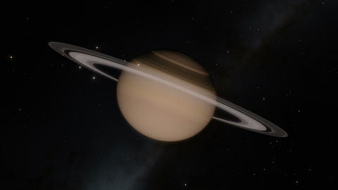 Planet Saturn Timelapse and Flyby Through the Rings Animation