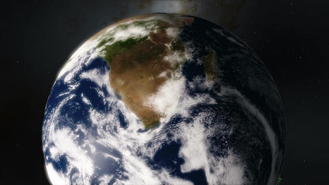 Planet Earth Timelapse Showing the Southern Hemisphere and the Aurora Borealis Footage