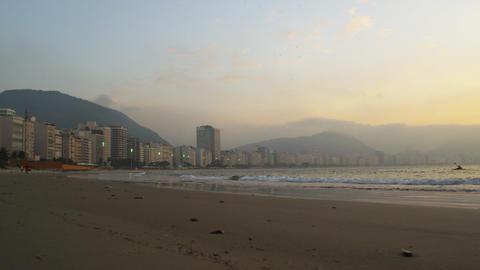 Sunset shot along the Brazilian coast in Rio de Janeiro Footage