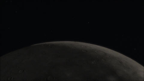 Ultra Closeup Moon Timelapse with Sun Transit Animation