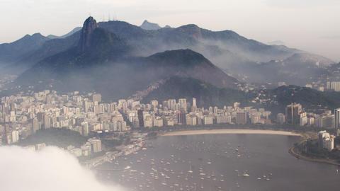 A misty day along the coast in Rio de Janeiro, Brazil Footage