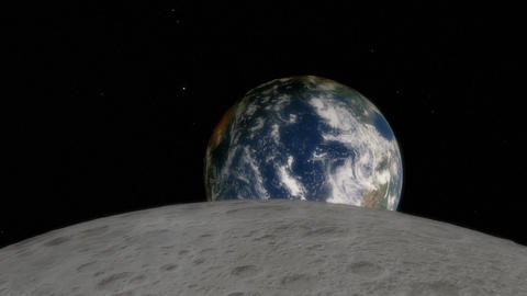 Timelapse of Earthrise over the Moon Animation