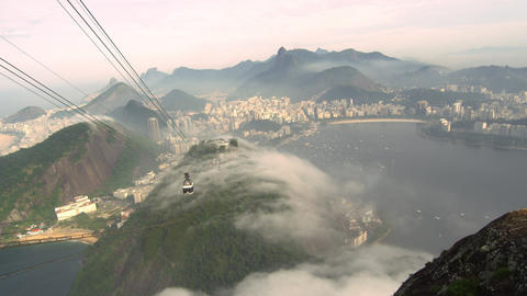 A foggy day at the Brazilian coastline in Rio de Janeiro, Brazil Footage