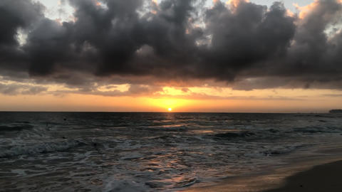 Wonderful sunrise on the ocean in the Dominican Republic Live Action