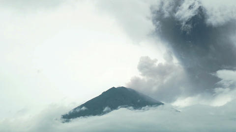 Volcanic Ash Cloud Billows Into Sky From Erupting Volcano time lapse Live Action