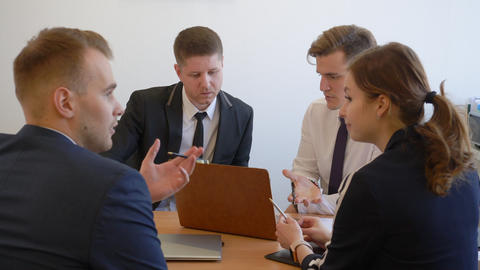 Business people discussing working plan Footage