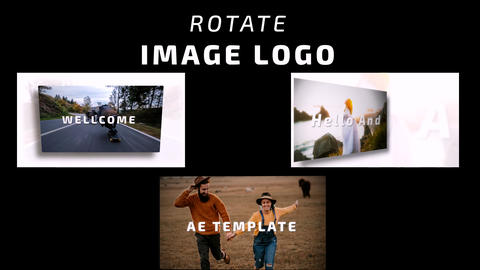 Rotate Image Logo After Effects Template