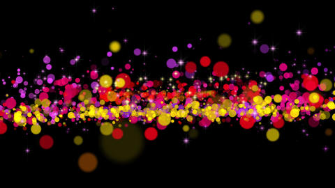 Color Particles and Sparkles Background GIF