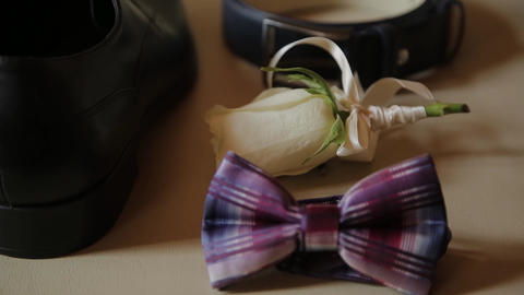 set wedding groom, men's accessories for wedding Footage