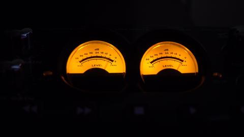 Music Studio Analog Meters GIF