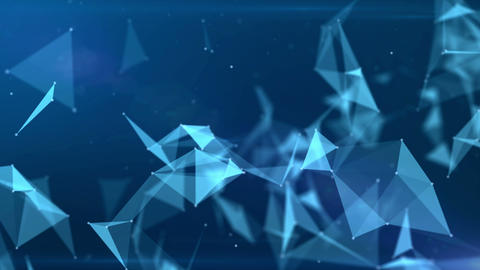 Blue background of the plexus planes Animation