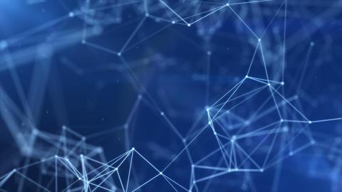 [alt video] 3D plexus lines on the blue background